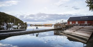 The Levanger pier in the city centre. Photo Espen Storhaug