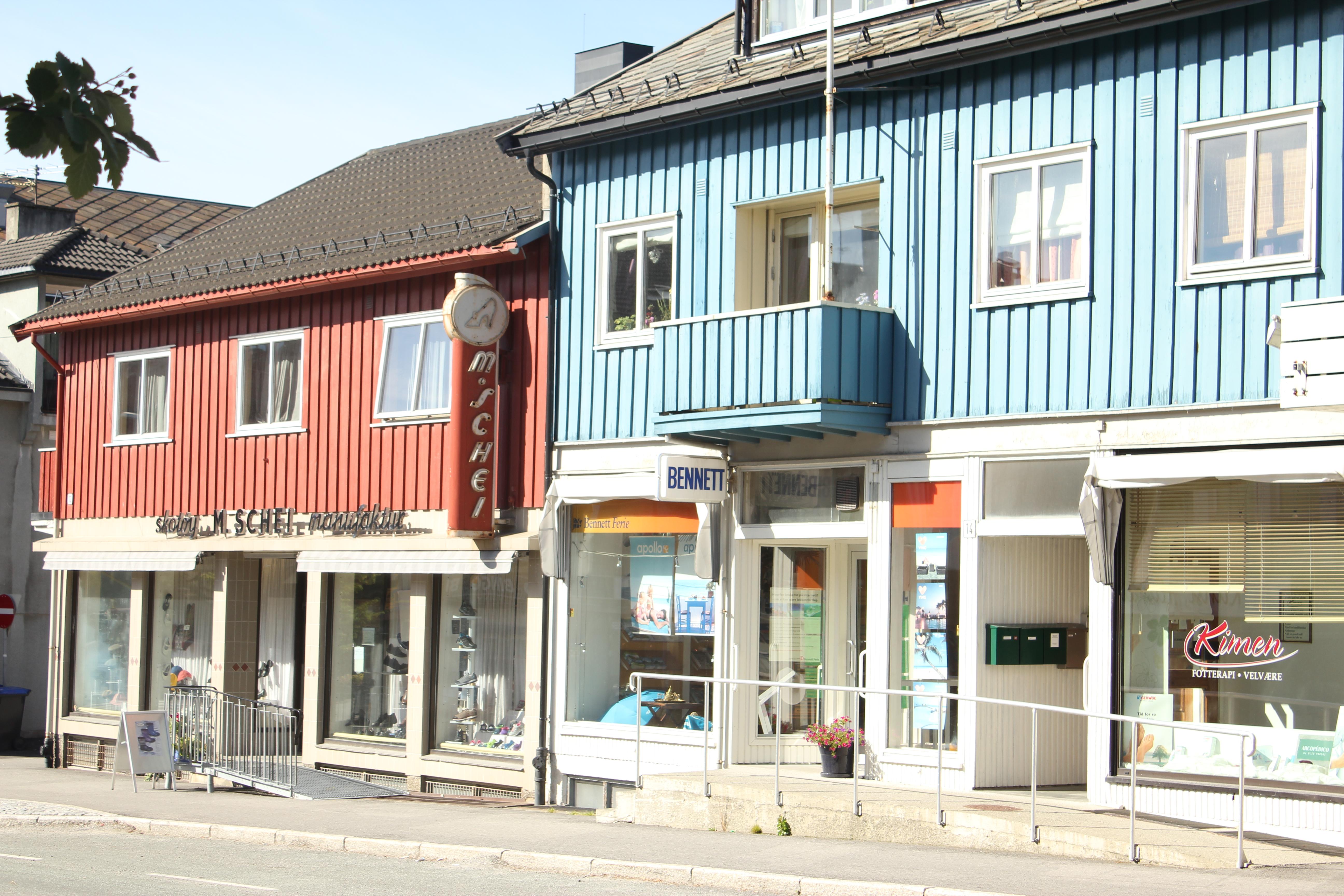 Steinkjer, M schei manufactur, Gjenreisningsbyen Steinkjer, second world war, Trondheim, Steinkjer, Innherred