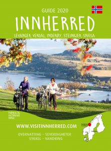 Front page for the 2020 Norwegian Tourist guide for Innherred in Trøndelag