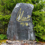 Memorial stone with King Olav 5th's signature