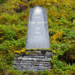 The memorial stone Karl Johans Klev - a memorial to the road that was built between Norway and Sweden