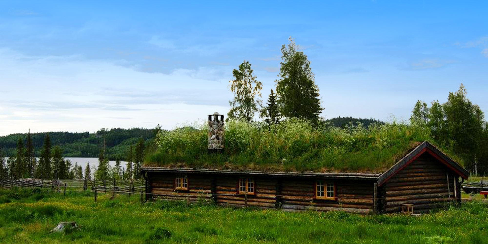 Hatlingsetra Summer Mountain Farm in Stod in STeinkjer, located next to Lake Hatlingvatnet. Foto: Hatlingsetra